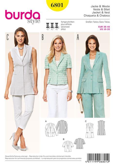 pattern review best of 2015 burda 6801 burda style jackets coats vests