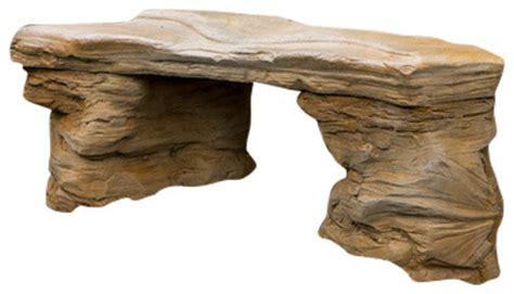 cast petrified rock bench cast petrified rock bench large sandstone finish
