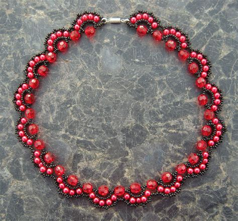 beaded l free pattern for beaded necklace rosana magic