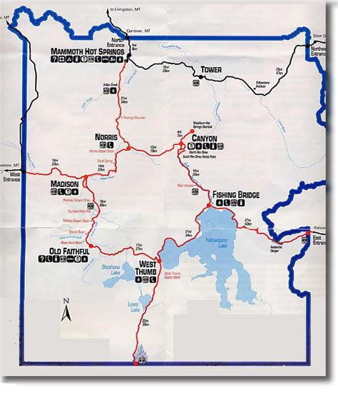 map of yellowstone national park yellowstone national park map