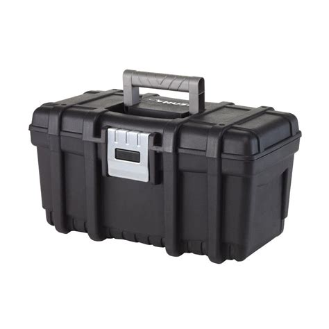 husky 16 in tool box with metal latch 209267 the home depot