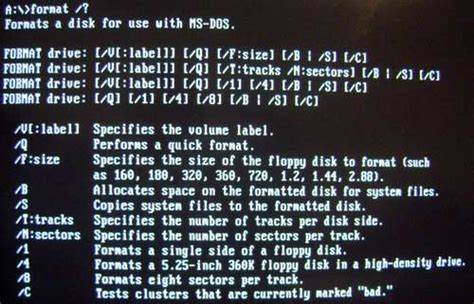 format hard disk ms dos format and fdisk from ms dos