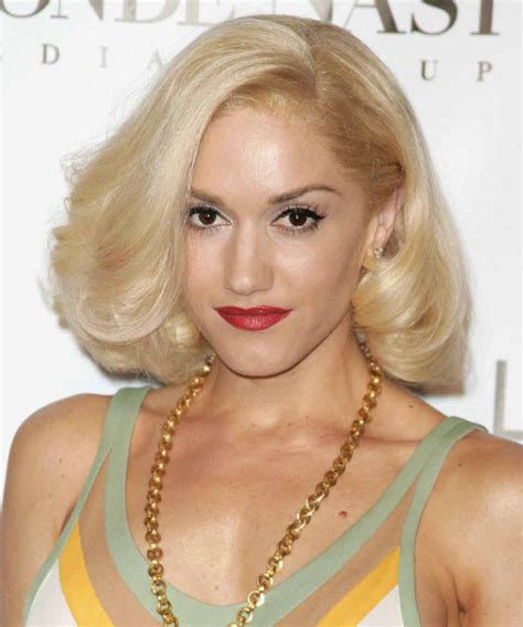 Gwen Stefani Hairstyle by Gwen Stefani Medium Formal Hairstyle