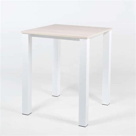 pieds de table haute table haute de cuisine carr 233 e en m 233 tal et stratifi 233