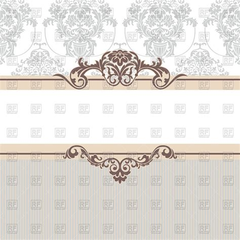 classic background vintage frame with vignettes on classic background vector