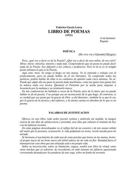 Calaméo - POEMAS GARCIA LORCA