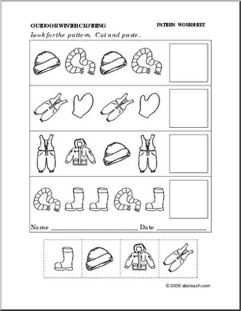 pattern worksheet cut and paste best photos of cut out patterns math printables cut and