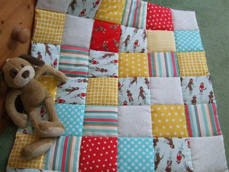 Patchwork Projects Free - monkey patchwork baby quilt sewing projects burdastyle