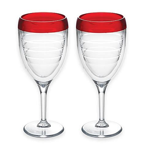 bed bath and beyond glasses tervis 174 9 oz wine glasses set of 2 bed bath beyond