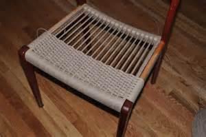 Danish Modern Furniture Designers by Weaving Danish Paper Cord Seats On Danish Modern Furniture