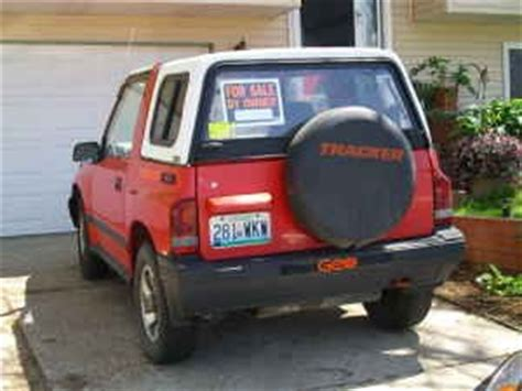 buying a used geo tracker – what to look for : zuki offroad