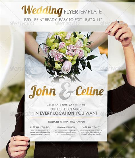 24 wedding flyer templates psd vector eps jpg