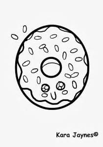 donut coloring page kara jaynes kawaii donut coloring page
