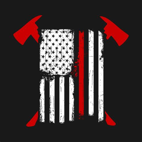 Christmas Gifts For Mom From Daughter by Firefighter Red Line American Flag With Crossed Axes Red