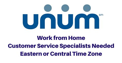 unum seeks work from home customer service specialists
