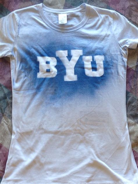 spray painting shirts with stencils diy byu shirts fabric spray paint and stencils byu