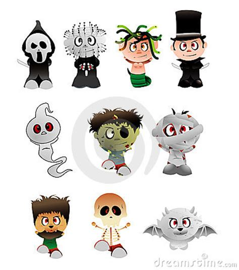 printable pictures of halloween characters halloween vector characters stock photography image 6670492
