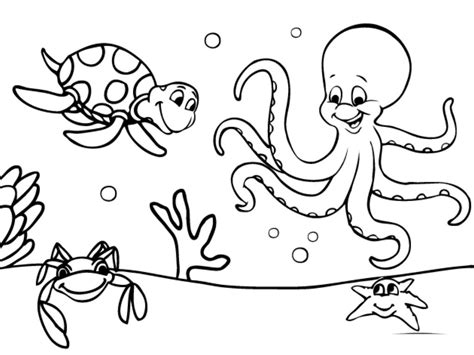 Free Ocean Coloring Pages Image 2 Gianfreda Net Pictures Into Coloring Pages