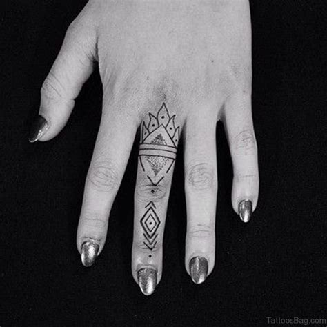 geometric tattoo finger 23 nice geometric tattoos for fingers