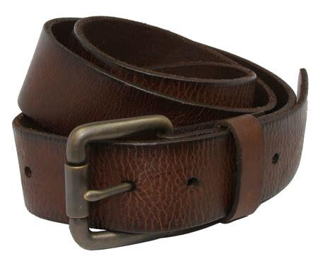 falcon vintage grain leather brass roller buckle belt