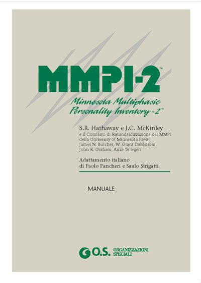 mmpi 2 test catalogo