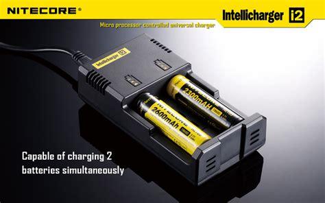 Charger Nitecore I2 By Techno Vape nitecore universal intellicharger i2 with car adapter cable