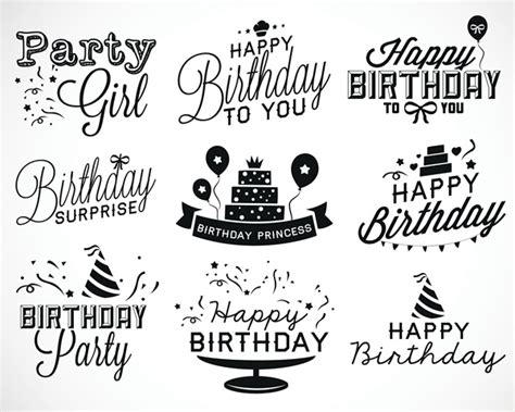 happy birthday layout design happy birthday english text layout design vector free