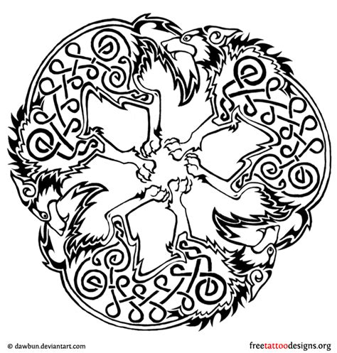 celtic wolf tattoos celtic animal designs wolf
