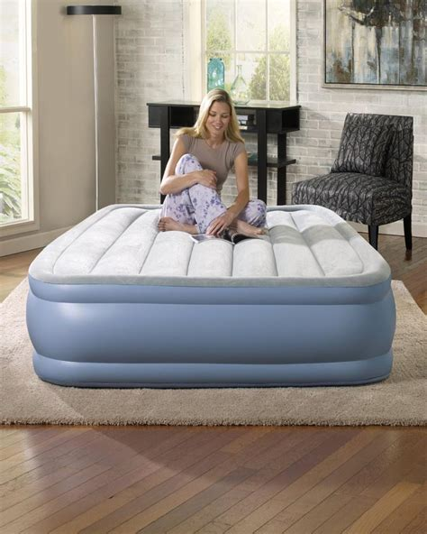 simmons beautyrest skyrise 16 quot pillow top air mattress bed with ebay