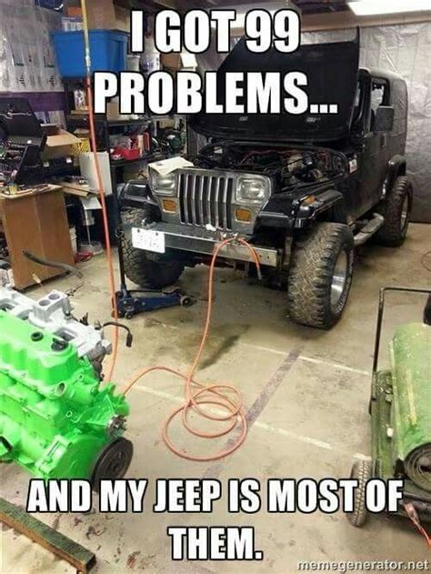 Jeep Wrangler Meme - 1000 images about jeep yj on pinterest tool box