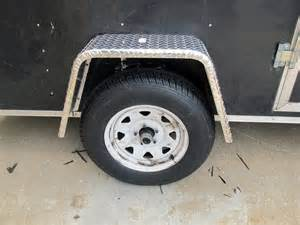 single axle trailer fender jeep style aluminum tread
