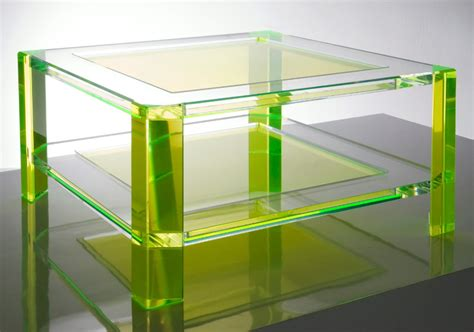 furniture acrylic tables with color green stylish