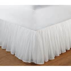 bed skirt greenland home fashions cotton voile bed skirt walmart
