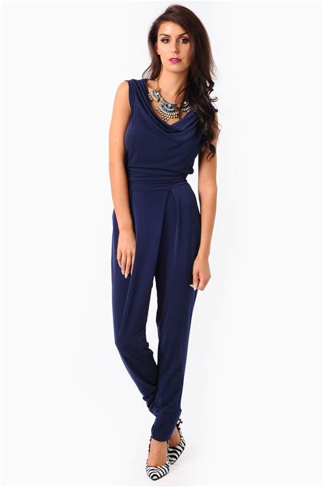 navy jumpsuit by vierra shop jumpsuit in navy iclothing