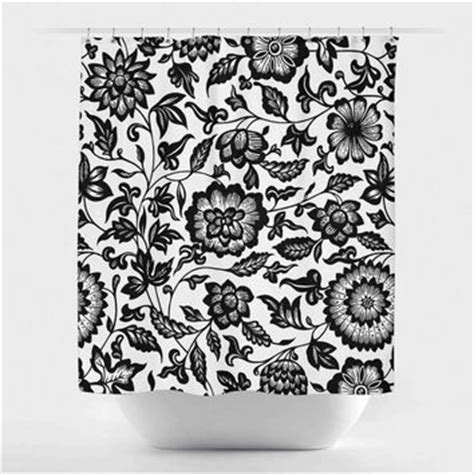 black and white flower shower curtain best black flower shower curtain products on wanelo