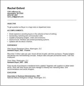 buyer resume exle free templates collection