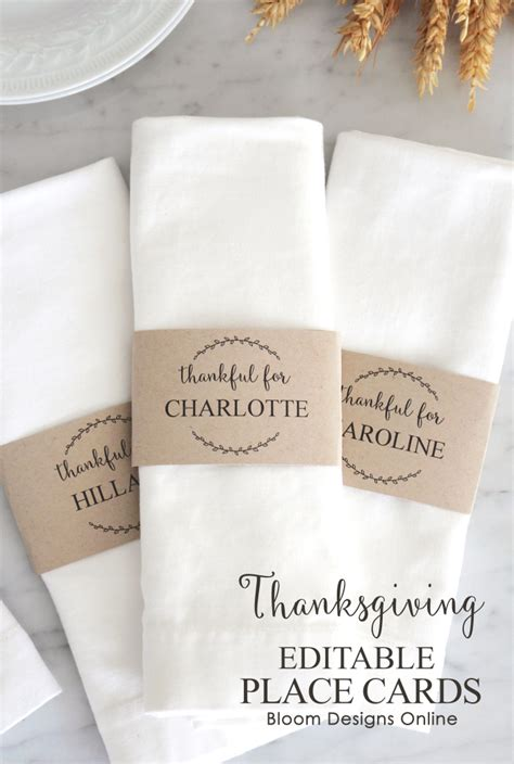 editable place card template thanksgiving editable thanksgiving place cards bloom designs