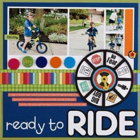 scrapbook layout cycling ready to ride scrapbook layout scrapbooking pinterest