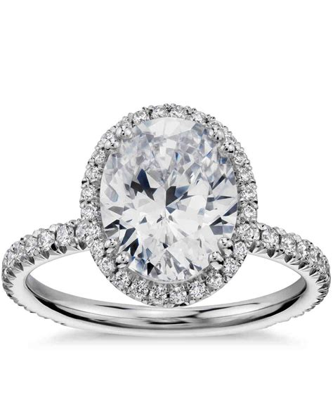 Wedding Bands For Oval Engagement Ring by Oval Engagement Rings For The To Be Martha Stewart