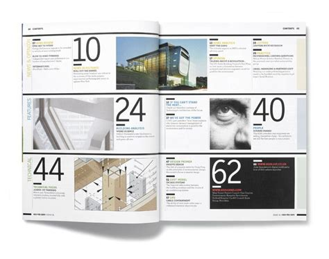 graphic design magazine layout pdf table of ccontents typography layout print design