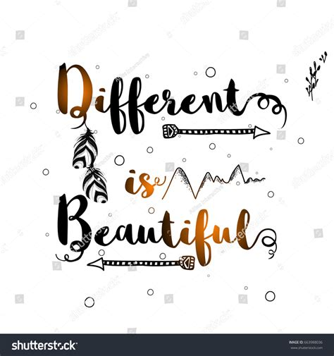 Different Is Beautiful shiny inspirational quote different beautiful ethnic stock