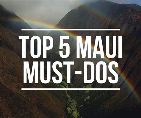 5 Must Dos by The Five Must Dos
