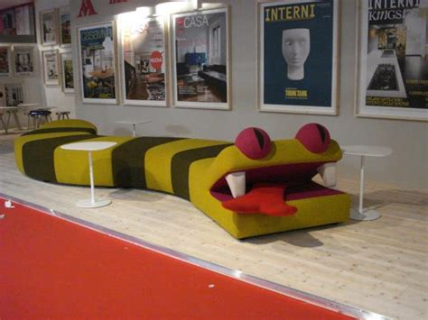 crazy bed crazy reptile couch at salone del mobile milan 2010