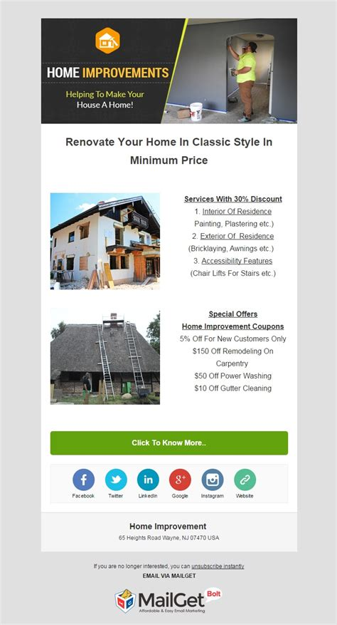 16 best home improvement email marketing services house