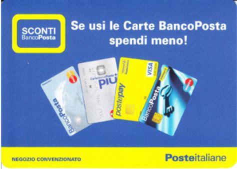 sconto banco posta sconti dell 8 5 a chi paga con carte di credito banco