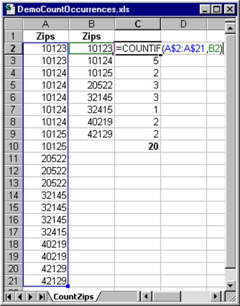 us area codes how many counting items in an excel list techrepublic