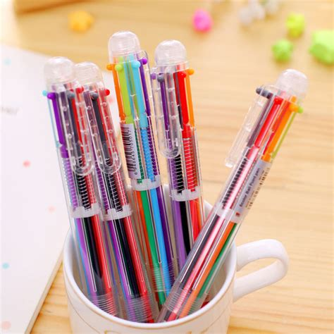 multi color pens 6 in 1 colors ballpoint pen multi color point pens