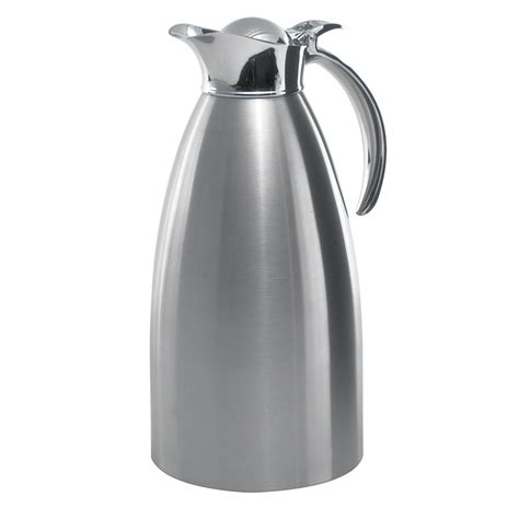 Coffe Pot Stainless 2 Liter service ideas 98220bs 2 liter coffee server w flip top stopper lid brushed stainless
