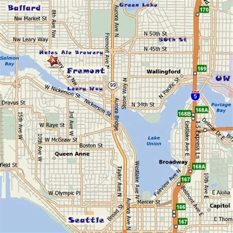 seattle map fremont seattle bicycle club hales ale brewery fremont wa