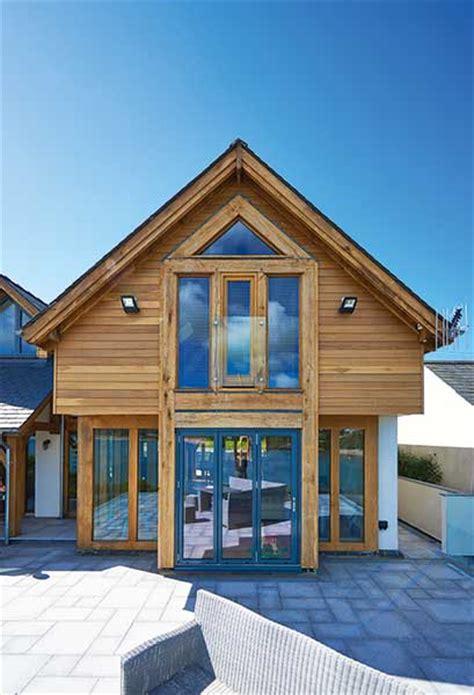 coastal contemporary oak frame house homebuilding